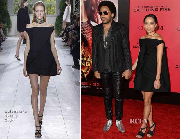 Lenny-Kravitz-In-Saint-Laurent-Zoe-Kravitz-In-Balenciaga-The-Hunger-Games-Catching-Fire-LA-Premiere